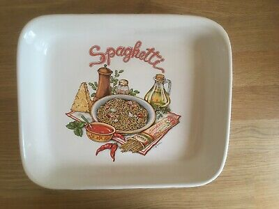 Ashley Ceramics Oblong Spaghetti Dish Vintage Retro Good Condition