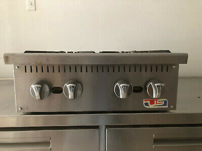 100,000 Btu Gas Hot Plate, Countertop, 4 Burner
