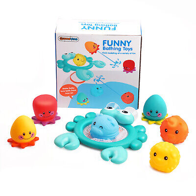 Animals Kids Toys Soft Silicone Float Sqeeze Sound Baby Wash Bath Swimming Toys