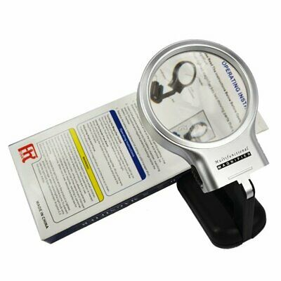 3X Reading Magnifier LED Handheld/Folding Table Jeweler Optical Magnifying Glass