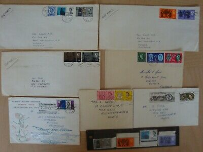 Postage Stamp collection of 15 UK pre-decimal Franked & 4 unfranked with boarder