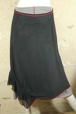 ANA ISABEL COLLECTION Taille 40 Superbe jupe noir gris rouge skirt
