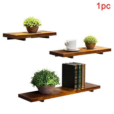 Floating Space Saving Display Wood Board Storage Rack Living Room Wall Shelf