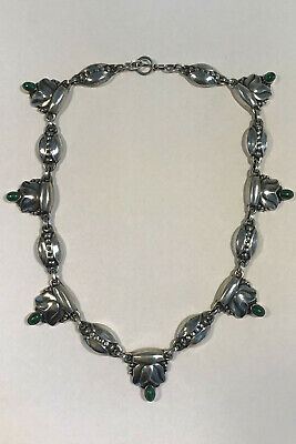 Georg Jensen Sterling Silver Necklace No 3 Malachite