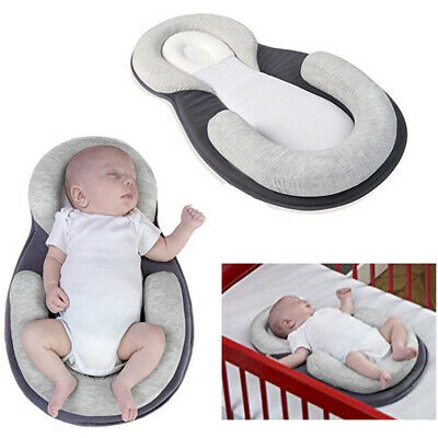 Infant Baby Pillow Cushion Prevent Flat Head Sleep Nest Pod Anti Roll SMART