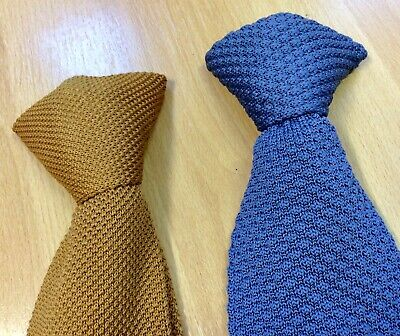 Two 1960s Woven Clip-on Ties