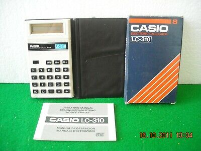 Rara Calcolatrice Display Lcd Casio Lc-310 Anni '70