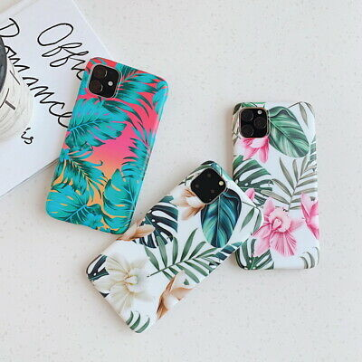 Frosted Soft Silicone Floral Case Cover For iPhone 11 Pro XS Max XR X 8 7 6 Plus