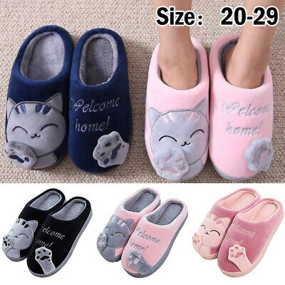 Women Men Lover FUNNY Cute Cozy Cat Paw Slippers Home Warm Winter Slippers Shoes