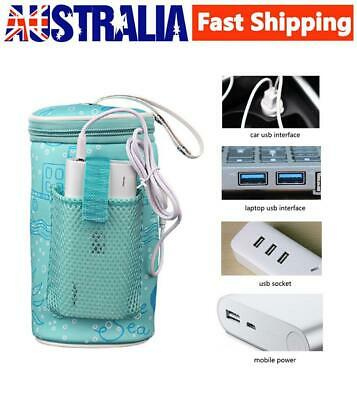 Baby Outdoor Bottle Thermostat Bag Car Portable USB Heating Warm Cover+USB Cable