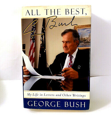 """RARE Signed GEORGE H. W. BUSH """"All the Best"""" Hardcover BOOK Bookplate Auto"""