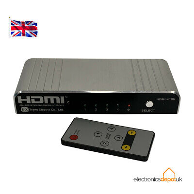 Hdmi410R - 4 Input - 1 Output Hdmi Switch With Remote Control 1080P