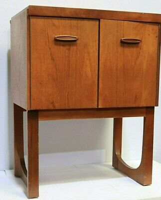 Vintage REMPLOY Mid Century Teak Record Cabinet Living Room Furniture - 250