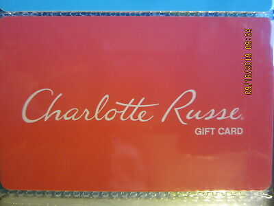 red CHARLOTTE RUSSE  swap trade collect NO VALUE GIFT CARD