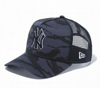 NEW ERA 9FORTY AF Trucker Cap Yankees Tiger Stripe Camo Graphite Japan Tracking