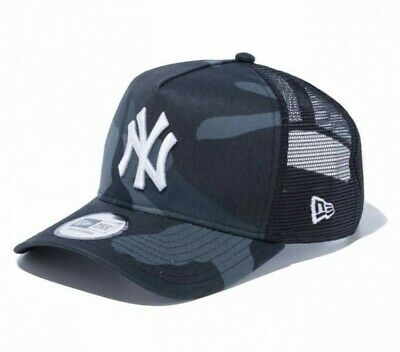 NEW ERA 9FORTY AF Trucker Mesh Cap Yankees Woodland Camo Midnight Japan Tracking