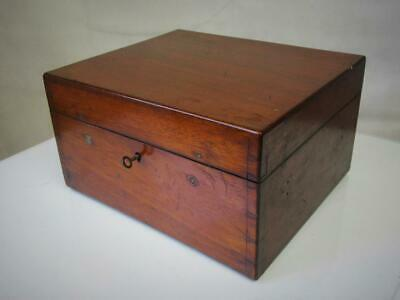 Antique  English Chess Box  Mahogany For Large Club Chess Sets
