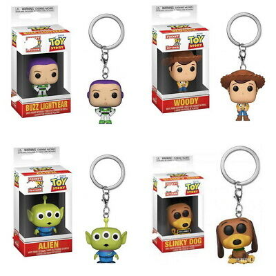FUNKO POP Keychain Toy Story Buzz Lightyear, Woody, Alien, Slinky Dog