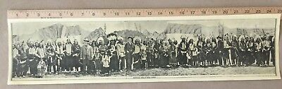 W.F.Cody - Panoramic photo of Wild West Circus circa 1908?