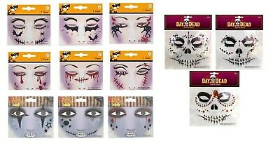 Halloween Face Jewels Stick On Adhesive Diamonds Gems Tattoo Party Makeup Art