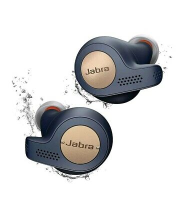 Jabra Elite Active 65t True Wireless Sports Earbuds w Charging Case Copper Blue