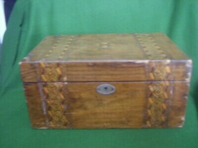 Turn Of The Century Wooden Inlaid Document Box