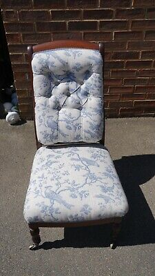 Small Antique Nursing Chair With Castors