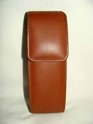 Coach Vintage Tan Leather Phone Or Eyeglass Case For Belt Or Hand Hold!   Nwt