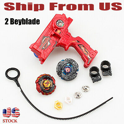 Top Fusion Metal Master Fight Rapidity 4D Beyblade Gyro Launcher Set Toy Gift US