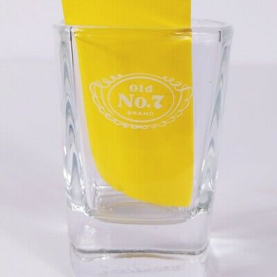 """Jack Daniels Old No 7 Brand 2.75"""" Square Collectible Shot Glass"""