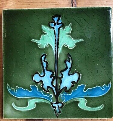 Art Nouveau Design Ceramic Tile
