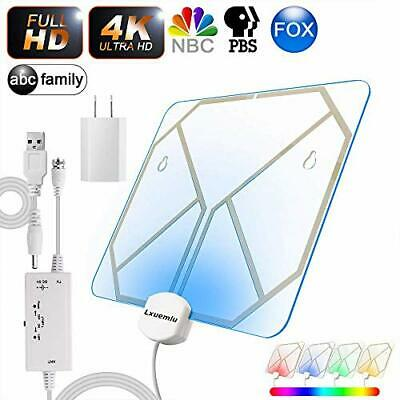 【2019 Newest】 TV Antenna Clear Acrylic Indoor Digital HDTV Antenna with