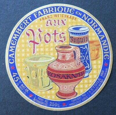 Etiquette fromage CAMEMBERT AUX POTS cheese label 16