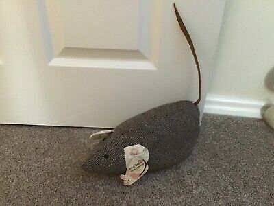 Sasse And Belle Tweed Mouse Doorstop Gorgeous Large Tweed Door / Stair Decor