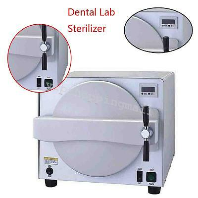 8L Dental Autoclave Sterilizer Medical Sterilization Vacuum Steam Machine DHL