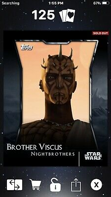Topps Star Wars: Card Trader Digital GILDED Nightbrothers Brother Viscus 2cc