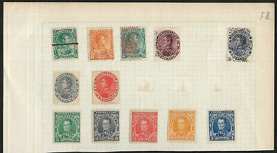 Venezuela Small Collection of used & Mint Stamp on Piece