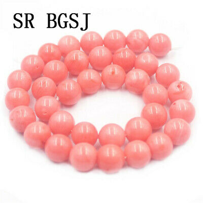 """Natural 10mm Round Pink Sea Bamboo Coral Gemstone Jewelry Loose Beads Strand 15"""""""