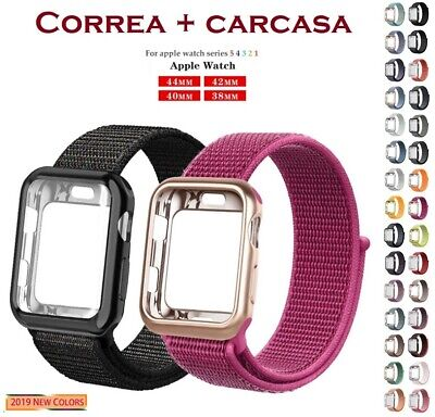 Correa Pulsera + Caja Loop De Nailon Para Apple Watch 1/2/3/4/5   38-40-42-44