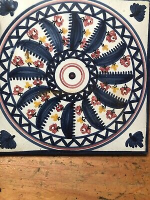 Vintage Decorative Ceramic Tile Trivet Made In Spain