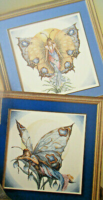 Lanarte Butterfly Fairies Counted Cross Stitch Pattern 2 Designs Day & Night