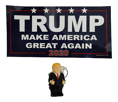 2020 Election Pack Donald Trump MAGA Blue Car Magnet Keychain Republican Gift