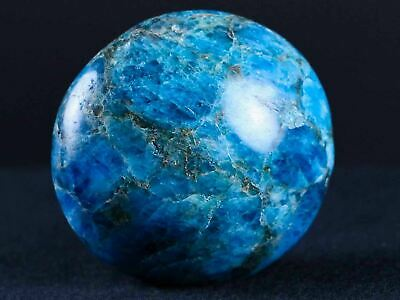Natural Polished Blue Apatite Stone Crystal Mineral Specimen Madagascar 6.6 IN