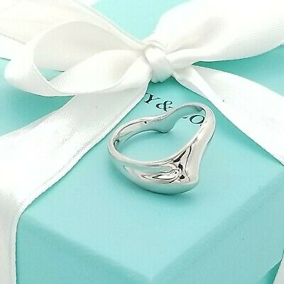 Vintage Tiffany & Co. Sterling Silver Elsa Peretti Curve Band Ring Size 8 Spain
