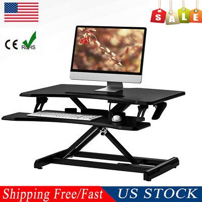 Portable Adjustable Standing Laptop PC Desk Ergonomic TV Bed Table Keyboard Tray
