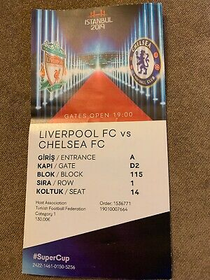 Liverpool - Chelsea - 14.08.2019 - UEFA Super Cup Final - Ticket