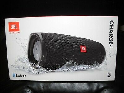 JBL Charge 4 Waterproof Portable Rechargeable Bluetooth Speaker Black NEW IN BOX