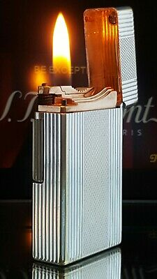 ST DuPont Lighter 1950s Rare Silver D57 Model Function Serviced Warranty VGC X46