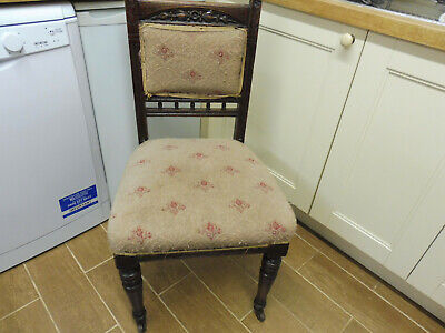 Vintage Kitchen Chair With Castors