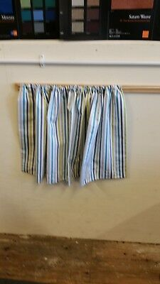 Curtains To Fit T2 Vw Camper New turquoise lime and grey stripe Pattern